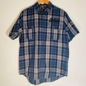 Harley Davidson button down T-shirt